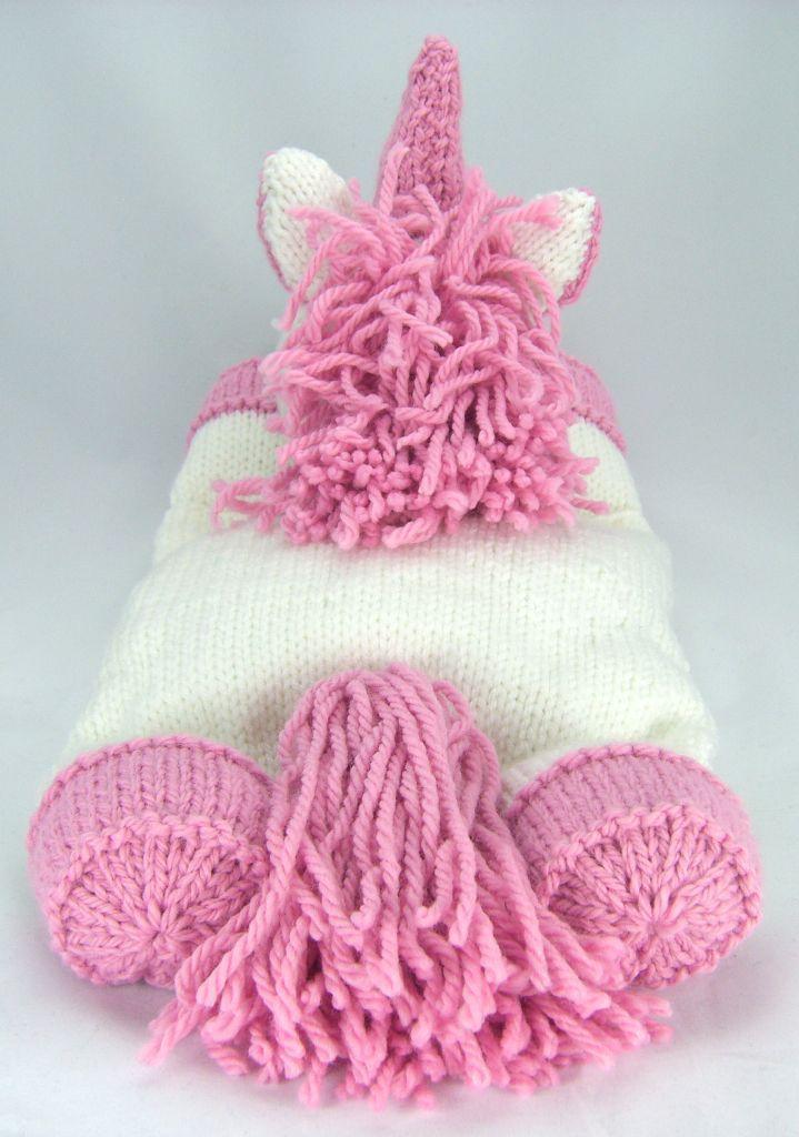 Kbp 028 Knitting By Post Suki The Unicorn Pyjama Case Knitting Pattern